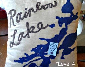 You Are Here Custom Lake Pillows