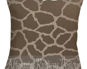 Giraffe Print Pillow Linen-Cotton British Colonial Caribbean Colonial Throw Pillow Cover Euro Sham