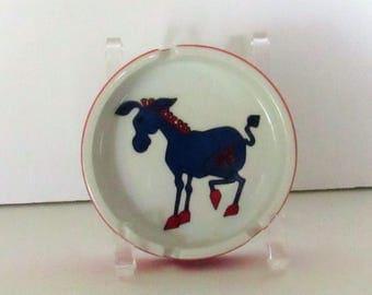 Political Ceramic Ashtray, Democrat '72