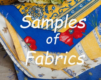 Samples of Provence Coated Fabric -