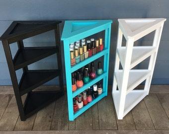 Nail Polish-Corner Storage-3 Tier Organizer-NEW SIZE (60-75 Bottles)