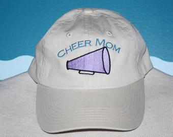 Custom Baseball Cap - Cheer Mom embroidered baseball cap - Great custom gift - baseball hat embroidered - personalized cheer leader hat