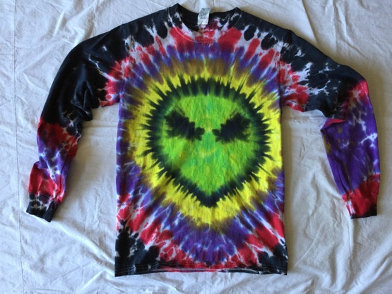 Alien Tie Dye T-shirt- Long Sleeve