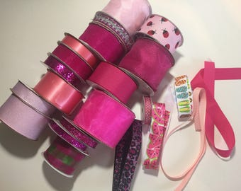 Pink ribbon -assorted lot