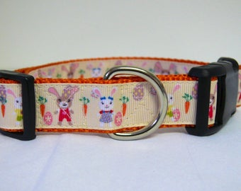 Easter Bunny Carrot Dog Collar
