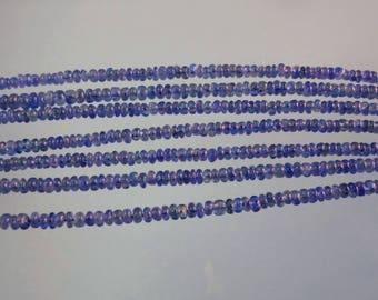 5-inch Natural Blue Sapphire smooth plain beads size 2.5mm 9cts GW2919