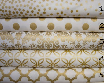 "Metallic Gold  Print Baby Blanket / Lovey - Cheetah Animal Print, Confetti, Damask, Clover, Quatrefoil - see ""Options"""