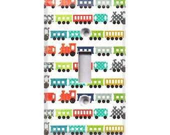 Trains Light Switch Cover