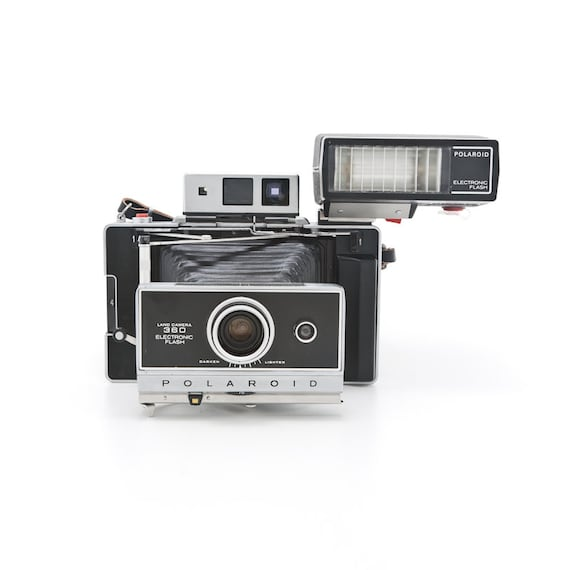 polaroid land camera 360 electronic flash with aaa battery. Black Bedroom Furniture Sets. Home Design Ideas