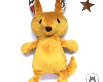 Kangaroo, softie, soft toy, Australian themed bedroom, plush stuffed toy, CE certified toy, wildlife, children's birth unisex gift