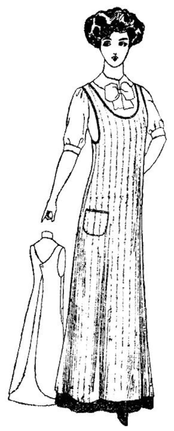 Victorian Edwardian Apron, Maid Costume & Patterns PAC4830 - 1910 Ladys One-Piece Kitchen Apron Pattern by Past PatternsPAC4830 - 1910 Ladys One-Piece Kitchen Apron Pattern by Past Patterns $12.95 AT vintagedancer.com