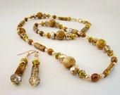 Beaded Necklaces, Jasper Beads, Handmade Necklaces, Gold Necklaces, Beaded Earrings, Jasper Jewelry, Bead Necklaces