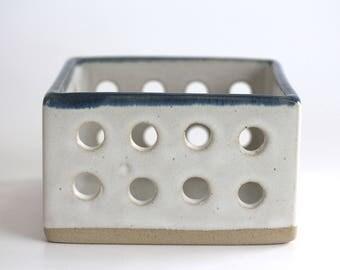 Ceramic storage basket, handmade