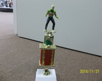 "Ugly Christmas Sweater trophy, 15"" tall, with engraving, Xmas Party, Ugly sweater holiday award"