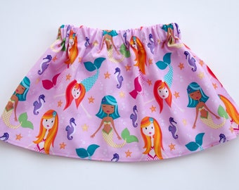 Mermaid Skirt - Little Mermaid Skirt - Toddler Mermaid Skirt - Mermaid Birthday Skirt