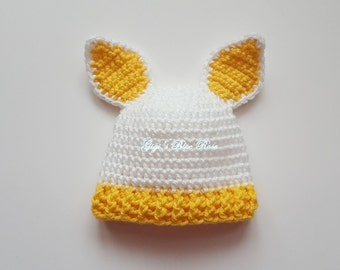 Newborn Crochet Baby Easter Bunny Hat /Newborn Photo Prop/Hospital Photo Prop/Ready to Ship