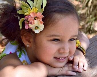 Hawaiian plumeria hair clip- Moana Wildflower clip or headband