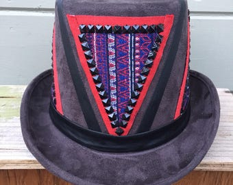 Custom Burning Man Hat, Festival Hat, Mens Top Hat