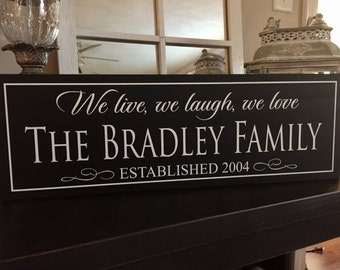 Custom Family Sign, Established Plaque, House Warming Gift, Wooden Signs, Name Plaque, Personalized House Sign, Family Name, Home Sign