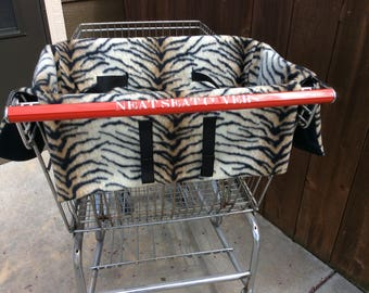 Shopping cart seat cover, Tiger Print