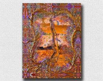 "Energy Art Print ~ ""Secret Garden"" ~  8.5""x 11"" Color Print Signed on Back From The Original Fine Art Encaustic Work by Deprise Brescia"