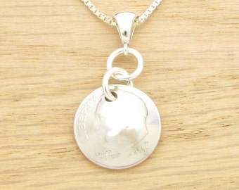 For 10th: 2007 US Dime Necklace 10th Anniversary or 10th Birthday Gift Coin Jewelry