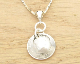 For 30th: 1987 US Dime Necklace Coin Jewelry 30th Birthday or 30th Anniversary Gift Coin Jewelry