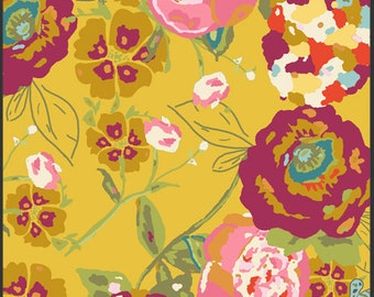 Garden Rocket Ruby Fabric from Lilly Belle by Bari J for Art Gallery. Floral Boho Fabric.  100% cotton.LB-2100 - Select Your Length
