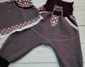 Check er pants 'Girl' Gr. 92 old purple