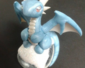 Blue and White Winter Dragon