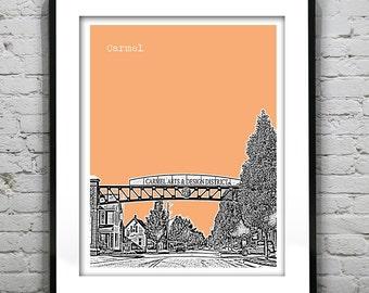 Carmel Skyline Poster Art Print Indiana IN Version 1
