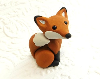 Fox Sculpture Polymer Clay Miniature Hand sculpted by Raquel at theWRC Collectible
