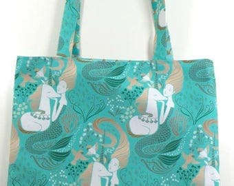 Mermaids and Unicorns REVERSIBLE Everyday CANVAS Tote Bag