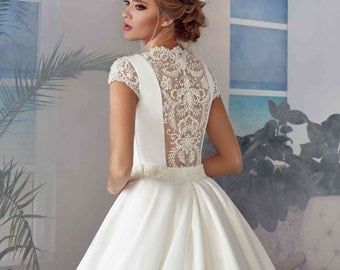 Bridal Lace Wedding Dress - Ava Wedding Stunning Lace Dress - Long Wedding Dress with Train - Elegant Wedding Dress - Simple Wedding Dress