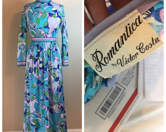 Vintage Romantica Victor Costa 60's Maxi dress Gown
