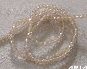 CHAMPAGNE LUSTER: 2mm Faceted Glass Rondelle Strand (195 beads per strand)