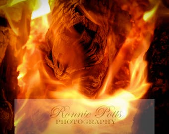 Fire, Flame, Campfire, Botanical Photography, Landscape Photography, Nature Photography, Fine Art, Made in USA, Wall Art, Room Decor