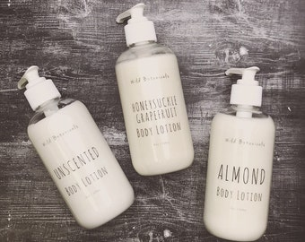 Body Lotion, Healing Lotion, Skin Cream, Natural, Almond, Fragrance-Free, Kokum Butter Lotion