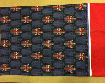 Doctor Who Tardis British Flag standard size pillowcase