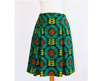 Double inverted pleat skirt
