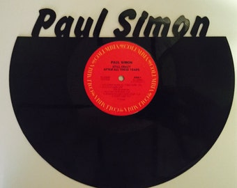 Recycled Vinyl Record Paul Simon Wall Art