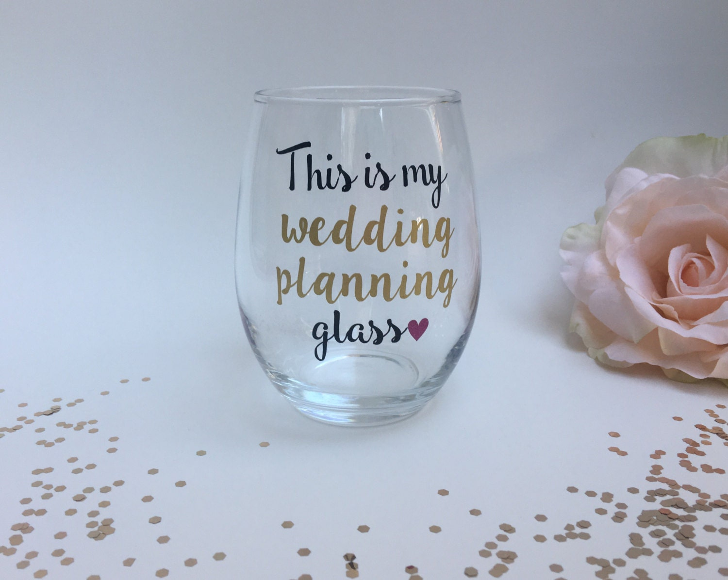 Gifts For A Wedding Planner: This Is My Wedding Planning Wine Glass Engagement Gift Gift