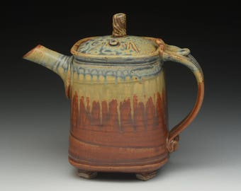 Wheel Thrown and Altered Stoneware Teapot. Functional Pottery