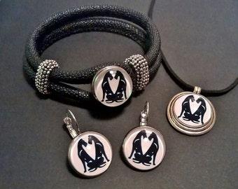 UniQ Irish terrier jewelry set