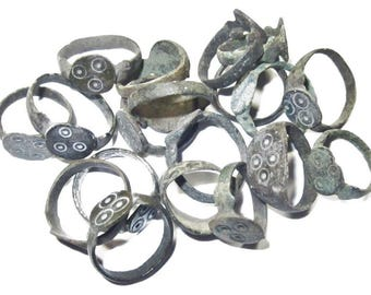 One Medieval Child's Bronze Evil Eye Ring - Talisman Protects Against the Evil Eye, 15th. - 17th. C. AD in small sizes