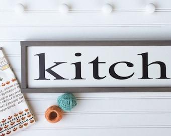 Kitchen Sign . Farmhouse Decor . Farmhouse Kitchen . Fixer Upper . 30 x 7 . Modern Country . Kitchen Decor . Farmhouse . Framed Sign