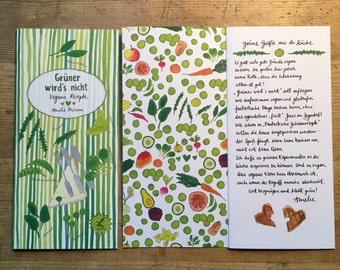 Green it becomes not - vegan recipes - written and illustrated by Amelie Persson appeared in the Jaja Verlag Berlin