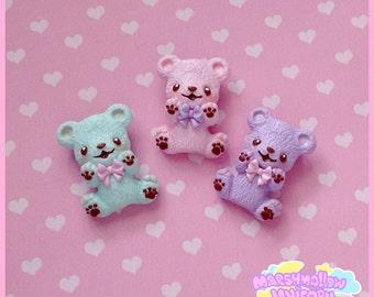 Marshmallow bear brooch cute and kawaii pastel colors