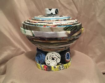 Recycled art bowl