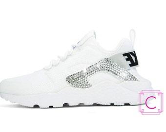641c86e17ac5 ... Women s Nike Air Huarache w SWAROVSKI - Nike Swarovski - Custom Shoes - Crystal  Nikes ...